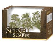 модель Bachmann 32009 Sycamore Trees. Серия SceneScapes. Размер от 7.6 до 10.2см. Упаковка 3 шт