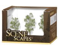 модель Bachmann 32010 Aspen Trees. Серия SceneScapes. Размер от 7.6 до 10.2см. Упаковка 3 шт