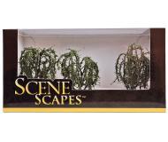 модель Bachmann 32014 Willow Trees. Серия SceneScapes. Размер от 7.6 до 8.9см. Упаковка 3 шт