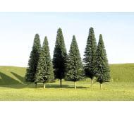 """модель Bachmann 32101 Серия SceneScapes. Готовое к установке на макет дерево. Pine Trees 3-4"""" Упаковка 9 шт"""
