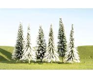 "модель Bachmann 32102 Серия SceneScapes. Готовое к установке на макет дерево. Pine Trees w/Snow 3-4"" Упаковка 9 шт"