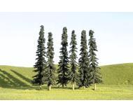 """модель Bachmann 32103 Серия SceneScapes. Готовое к установке на макет дерево. Conifer Trees 3-4"""" Упаковка 9 шт"""