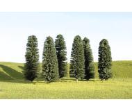 """модель Bachmann 32105 Серия SceneScapes. Готовое к установке на макет дерево. Cedar Trees 3-4"""" Упаковка 9 шт"""