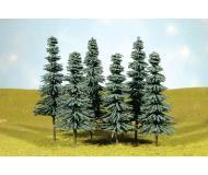 """модель Bachmann 32112 Серия SceneScapes. Готовое к установке на макет дерево. Blue Spruce Trees 3-4 """" в высоту Упаковка 9 шт"""