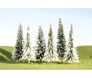 """модель Bachmann 32153 Серия SceneScapes. Готовое к установке на макет дерево. Snow-Covered Pines 3 - 4 """" в высоту. Упаковка 36 шт"""