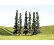 модель Bachmann 32155 Coniferous Trees. Серия SceneScapes. Размер 7.6-10.2см. Упаковка 36 шт