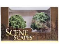 """модель Bachmann 32213 Серия SceneScapes. Готовое к установке на макет дерево. Oak Trees 4-1/2 - 5 """" в высоту. Упаковка 2 шт"""