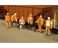 модель Bachmann 33106 Серия SceneScapes. Люди на работе. Путевые рабочие. Упаковка 6 шт