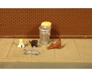 модель Bachmann 33107 Серия SceneScapes. Коты на помойке. Упаковка 6 шт