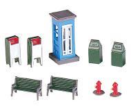 модель Bachmann 42209 Park Accessories. City Park Accessories Упаковка 9 шт