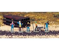 модель Bachmann 42334 5 фигурок железнодорожных рабочих + инструмент: тележка, лопата и т.д.