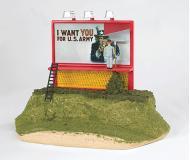 модель Bachmann 42604 Williams Operating Billboard. Uncle Sam Wants You For U.S. Army