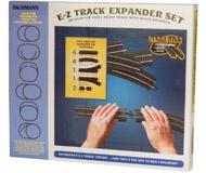 модель Bachmann 44494 Набор путевого материала. Серия E-Z Track. Стальные рельсы с чёрной балластной призмой