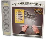 модель Bachmann 44594 Набор расширения. Серия E-Z Track, никелированные рельсы с серой балластной призмой.