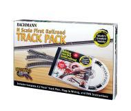 модель Bachmann 44896 Серия E-Z Track, никелированные рельсы с серой балластной призмой. World Greatest Hobby Track Pack