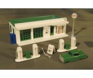 модель Bachmann 45013 Серия Plasticville. Полностью собранное здание. Gas Station