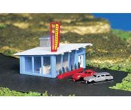 модель Bachmann 45709 Drive-In Hamburger Stand. Модель полностью собрана. Размер 12.1 x 7.7см