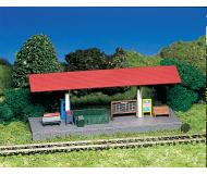 модель Bachmann 45906 Station Platform w/Roof & Figure. Модель полностью собрана. Размер 3 x 9.9см