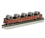 модель Bachmann 71909 ACF 50ft.6in. Drop-End Gondola Conrail with Steel Coil Load