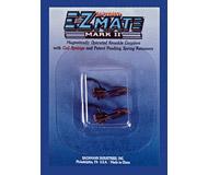 модель Bachmann 78023 Сцепки E-Z Mate Mark II с металлической фиксирующей пружинкой, аналог сцепки Kadee. Короткий хвостовик с расположением головки сцепки над осью хвостовика. 2 шт в упаковке. Блистер-набор из 12 комплектов (всего 24 сцепки, цена указана за 12 комплектов.)