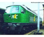 модель Brawa 0311 Тепловоз Rail4Chem W232.02. Эпоха V, версия AC (для переменного тока, совместимо с Märklin), установлен цифровой декодер