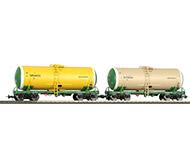модель Eurotrain 0011 Две цистерны для перевозки нефтепродуктов. Принадлежность РЖД, Россия.