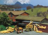 модель Faller 120228 Fuhrwerk + Eisenbahnschwellen(pa