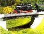 модель Faller 120483 Однопутный металлический мост с ездой понизу 29,8х7,2х9,8
