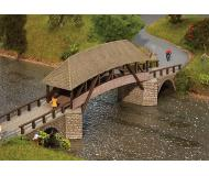 "модель Faller 120494 Wood Covered Arched Bridge, окрашены Laser-Cut Wood. Набор для сборки (KIT) - 14-9/16 x 3-1/4 x 4-5/16""  37 x 8.3 x 11см."