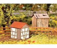 модель Faller 130289 Small Storage Sheds. Набор для сборки (KIT) (Precolored Laser-Cut Wood & Card), окрашены, 1 Each Wood Board & Half-Timber