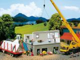 модель Faller 130308 Панельный дом, в стадии строительства