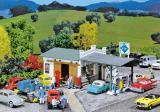 модель Faller 130349 Tankstelle mit Autotreparatur