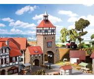 "модель Faller 130406 City Wall Gate w/Gate House. Набор для сборки (KIT), пластмассовые детали -- 6-7/8 x 2-3/16 x 9.13/16""  17.5 x 5.5 x 25см."