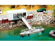 "модель Faller 130512 Pier Ticket Booth w/Landing. Набор для сборки (KIT), пластмассовые детали -- Building 3-3/4 x 1-9/16 x 2-15/16""  9.5x4x7.4см. Dock 4-3/4x3/4x3/4"";12x2x2см."