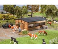 "модель Faller 130547 Livestock Shelter -- Laser-Cut Wood. Набор для сборки (KIT) - 4-1/2 x 3-7/8 x 1-3/4""  11.5 x 9.8 x 4.5см."
