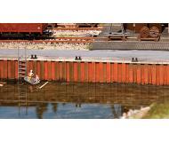 модель Faller 131012 Wharf Wall. Набор для сборки (KIT) -- 20-1/2 x 5/8 x 1-5/8  52 x 1.6 x 4.2см.