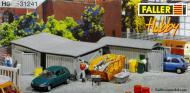 модель Faller 131241  Три металлических гаража