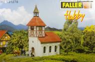 модель Faller 131278 Церковь. Размер 13.3 х 7.2 см, высота  19.3 см