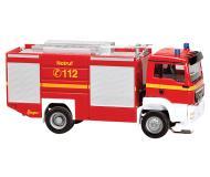 модель Faller 161301 Car System стартовый набор - Digital Equipped. Набор для сборки (KIT) -- MAN Fire Truck w/Lights, Processor-Controlled Charging Station, Road Materia