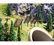 "модель Faller 180436 Avalanche Barrier/Snow Fence. Набор для сборки (KIT) - Each: 1-1/4 x 15/16 x 1-7/16""  3.1 x 2.4 x 3.6см., упаковка 10 шт."