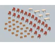 модель Faller 180438 7 Tische und 48 Stühle