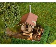 "модель Faller 180607 Barrel-Shaped Sauna House -- Laser-Cut Card. Набор для сборки (KIT) - 1-13/16 x 1-5/16 x 1-15/16""  4.6 x 3.4 x 4.9см."