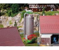 """модель Faller 180621 Grain Silo, окрашены. Набор для сборки (KIT) - 2 x 1-5/8 x 4-13/16""""  5.2 x 4.2 x 12.3см."""