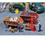 модель Faller 180908 Tipper Dumpsters. Набор для сборки (KIT). Упаковка 2 шт.
