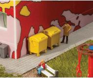 модель Faller 180913 Garbage Bins -- Yellow. Упаковка 2 шт.
