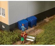 модель Faller 180914 Garbage Bins -- Blue. Упаковка 2 шт.