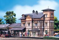 "модель Faller 193112 Nieder Ramstadt Traisa Station - Assembled -- 10 x 5-1/8 x 5-1/2""  25.5 x 13 x 14см."
