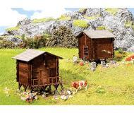 "модель Faller 232368 Hay Barn & Granary Buildings. Набор для сборки (KIT) (Precolored Laser-Cut Wood & Card), окрашены 1-1/2 x 1-7/16 x 1-1/2""  3.9 x 3.7 x 3.9см."