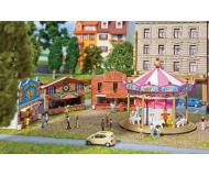 модель Faller 242301 Fun Fair Set w/Motorized Carousel & Game Booths. Набор для сборки (KIT)