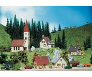 модель Faller 293100 Набор для создания деревни (здание Ратуши, 4 домика) TT